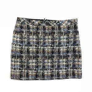 J. Crew Gilded Tweed Silk Woven Mini Skirt / 6